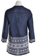 Oneseason Top SAFI Long Sleeve Cotton Navy