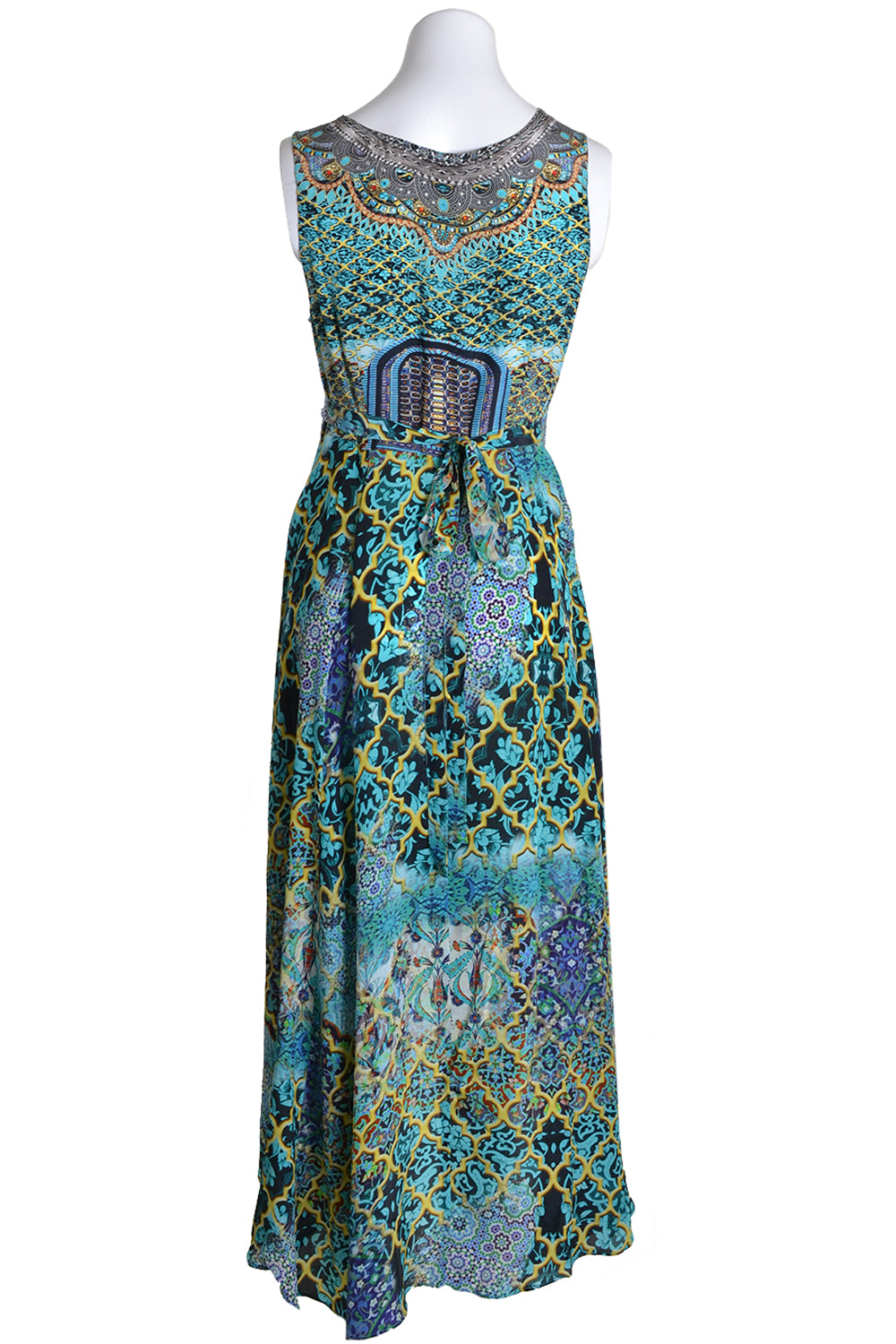 INOA Inoa Dress WRAP DR Long Back Marrakesh Turquoise Turquoise