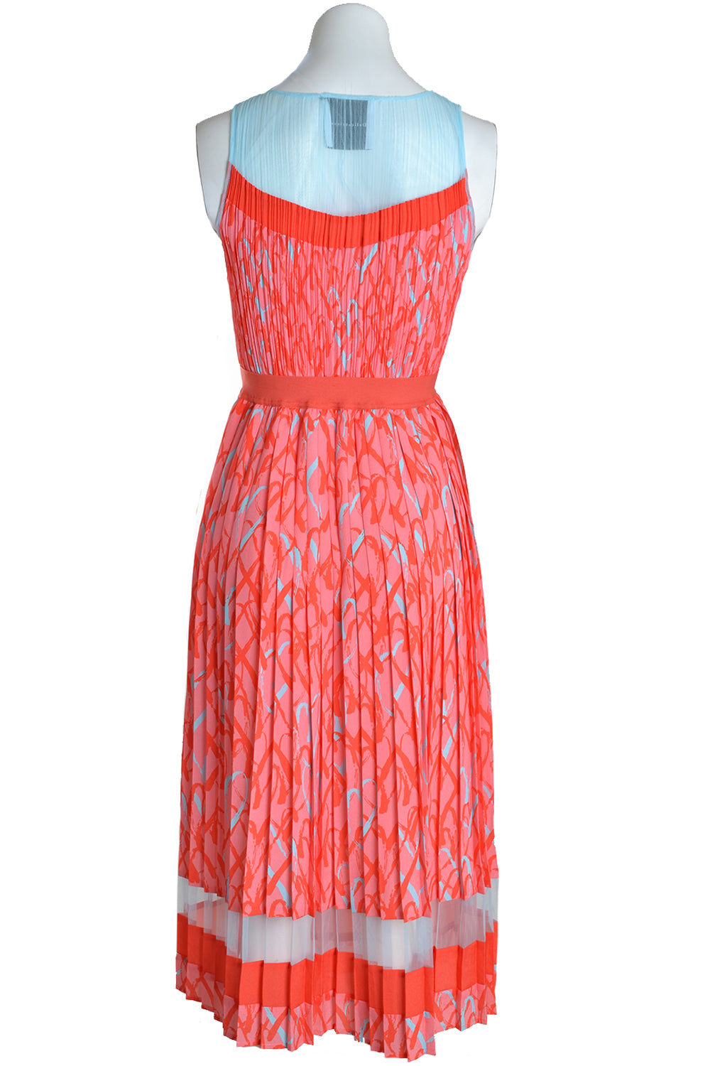 Delicate Love Dress KIRA Heart Print Red