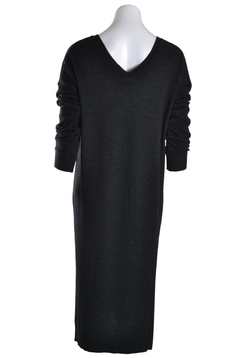 Dante6 Dress LEVY V Neck Knit Carbon Grey