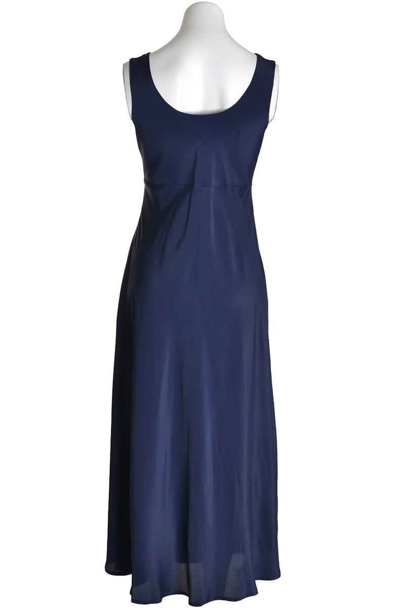 Ottodame Long Dress DA3879 Bias Silk Navy Blue Navy