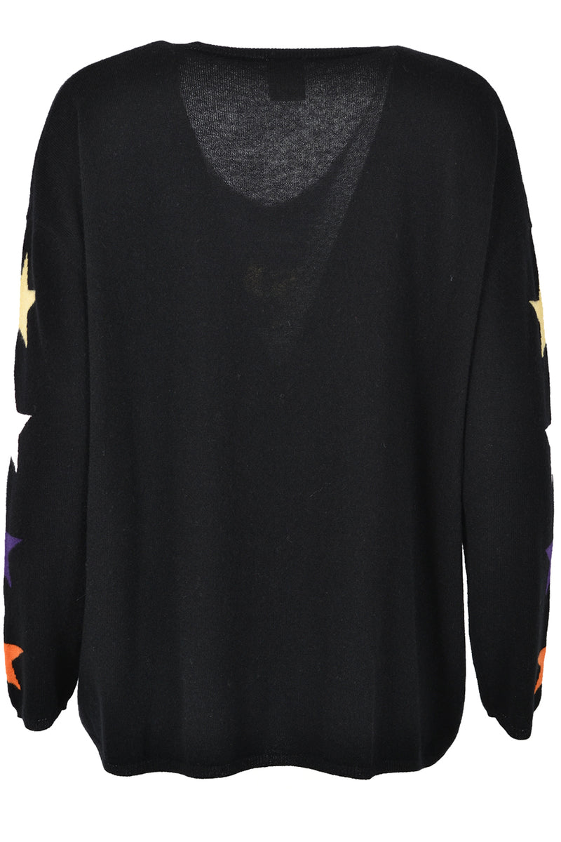 Five Jeans Cashmere Mix Cosmic Dreamer Sweater Black
