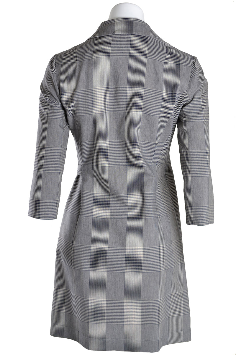 Patrizia Pepe Dress Check Asymmetric Moon Check Grey