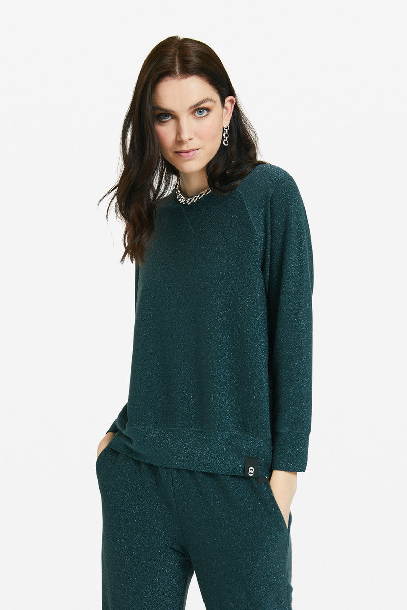Ottod'Ame Sparkle Sweater Bottle Green