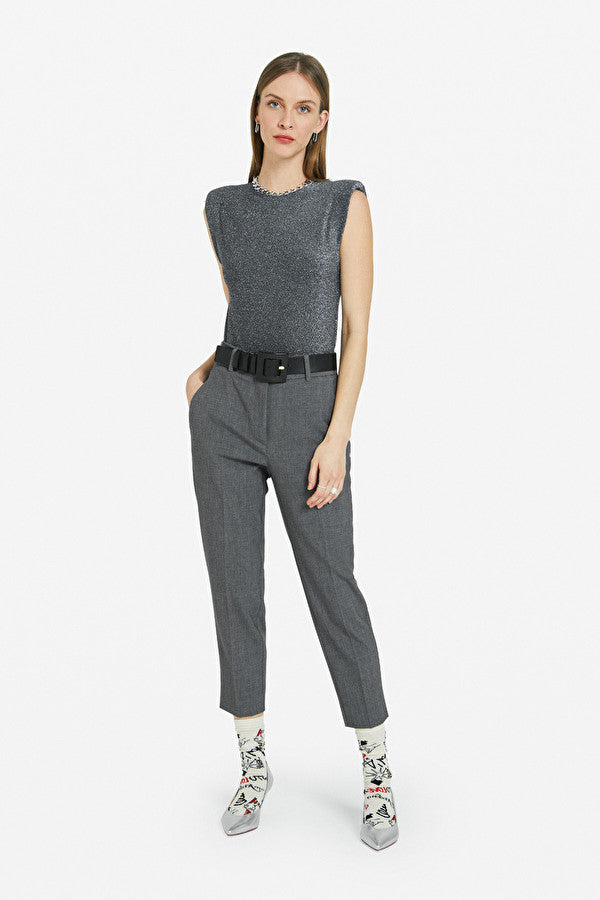 Ottod'ame Formal Tailored Trousers Smoke