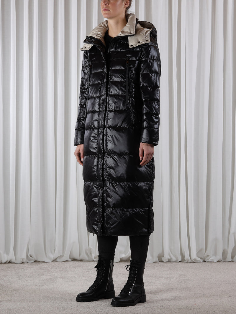 Rino & Pelle DAVLIN Long Padded Coat Black