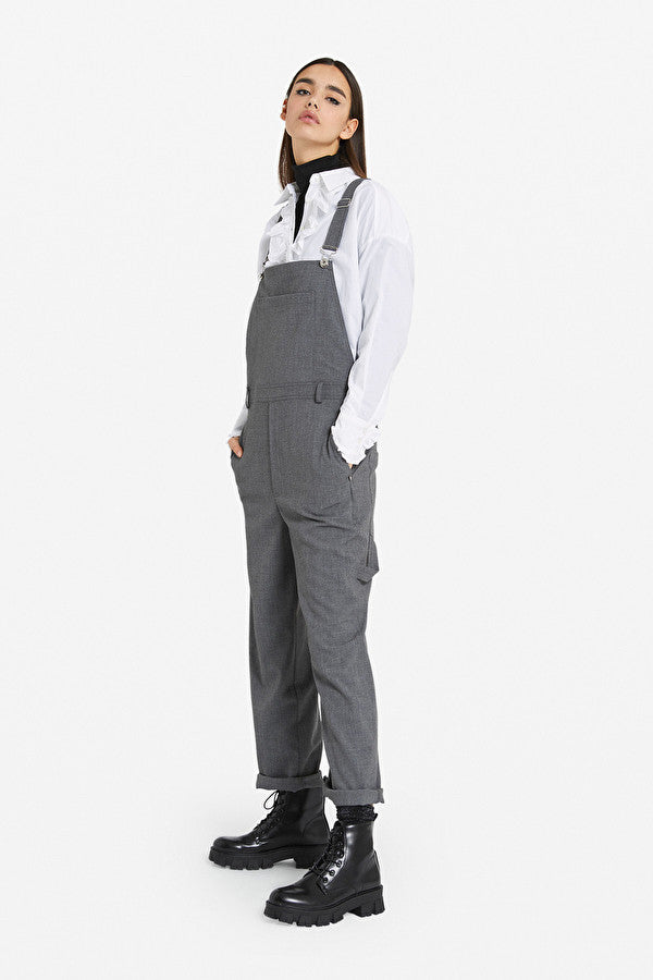 Ottod'Ame Front Pocket Dungarees Smoke