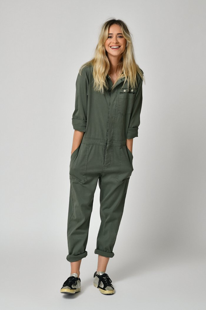 Five Jeans Esther Star Pocket Boiler Suit Ivy Green