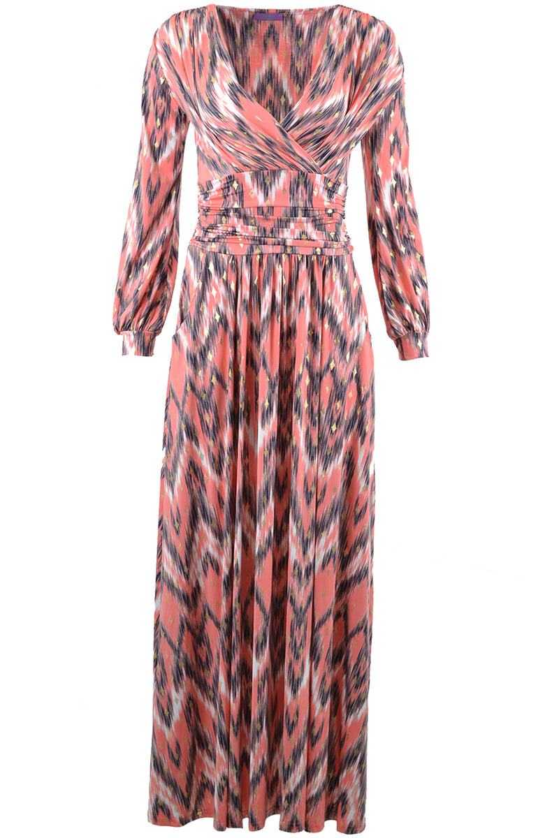 Onjenu Sharon Maxi Dress Venus Coral Metallic Coral