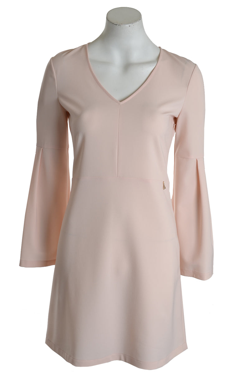 Patrizia Pepe Dress Fluted Sleeve Soft Pink
