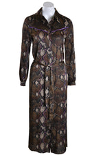 Dante 6 Dress POWEEN Shirt Snake Print Bitter Chocolate Snake