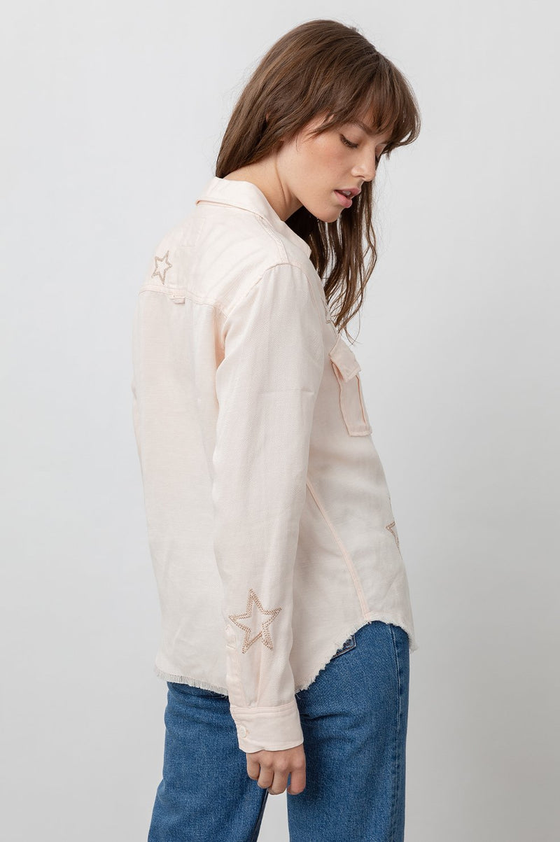 Rails LOREN Blush Star Embroidery Shirt.