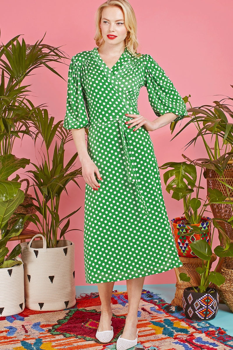 Onjenu Ella Midi Dress Green