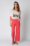 Five Jeans LUCIA Wide Leg Trouser Geranium