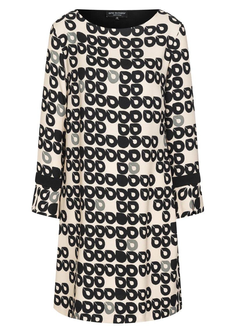 Ana Alcazar BAHA Monochrome Link Dress Black & White