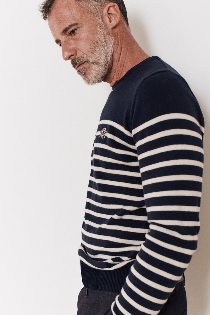 Rockers Delight KRETON Breton Sweater Navy