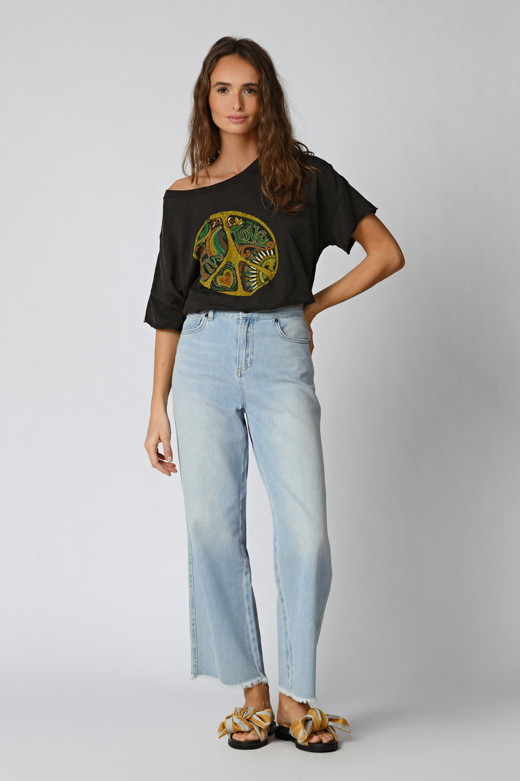 Five Jeans TSE2101 Peace T-Shirt Carbone