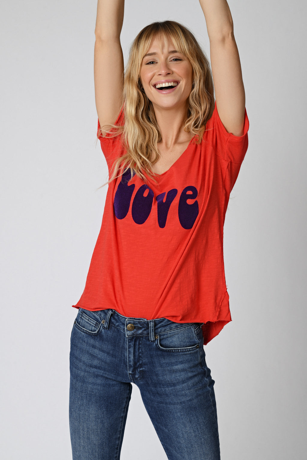 Five Jeans TSE2124 Love T-Shirt Geranium