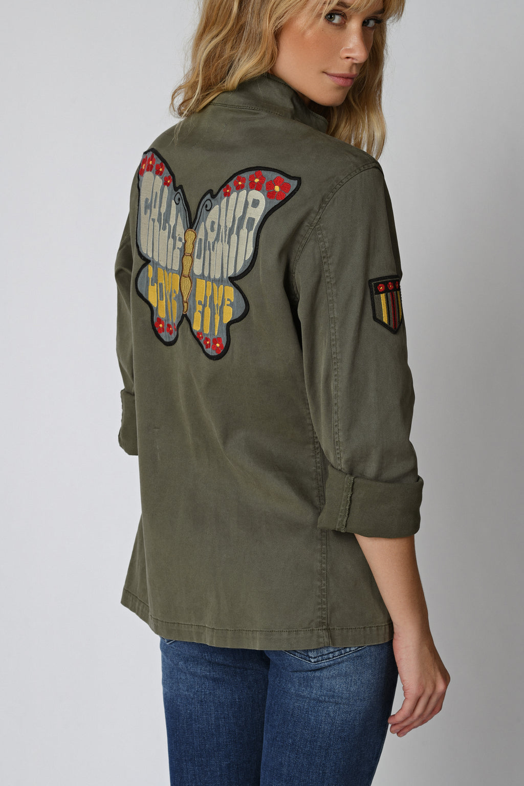 Five Jeans BRENDA Butterfly Army Jacket Khaki