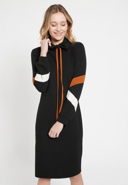 Ana Alcazar BATWY Polo Neck Sports Dress Black