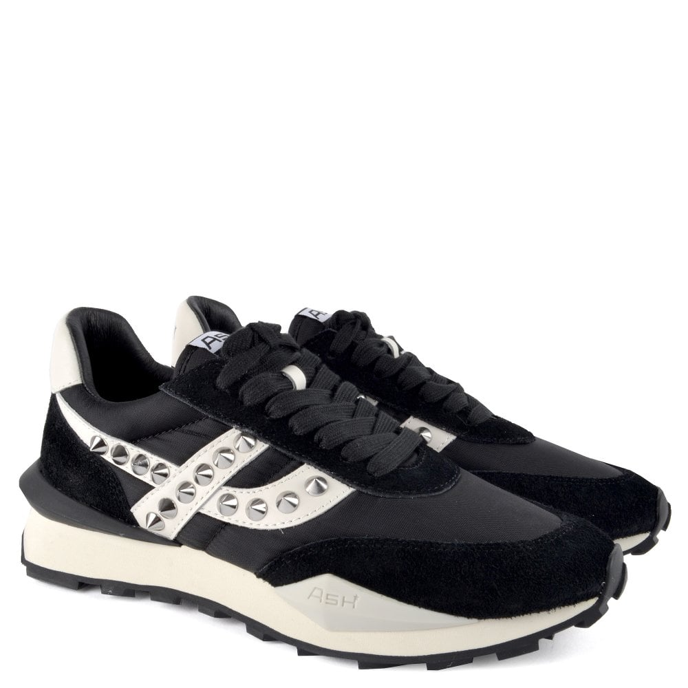 Ash Spider Studded Eco Trainers Black & White