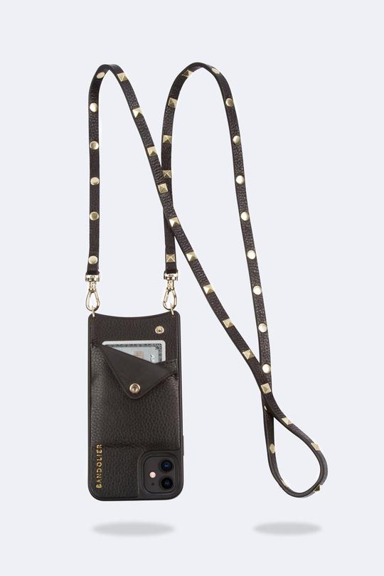 Bandolier Phone Case SARAH Stud Black & Gold