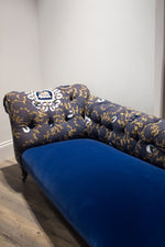 Bellas Gone Home Vintage Chaise Blue