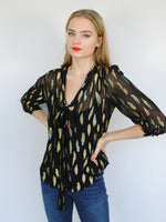 Stardust Candy Blouse Metallic Sunset Black