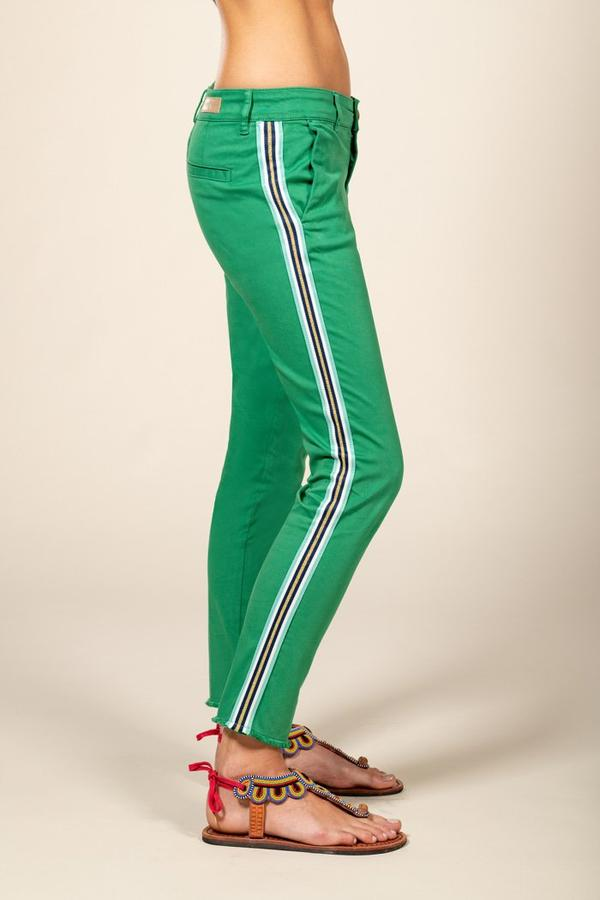 Five Jeans CATHY Chino Side Stripe Emerald