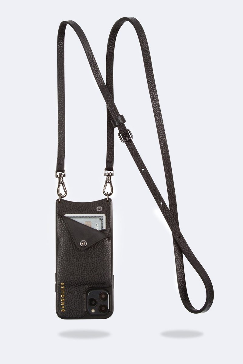 Bandolier Phone Case EMMA Plain Black & Pewter