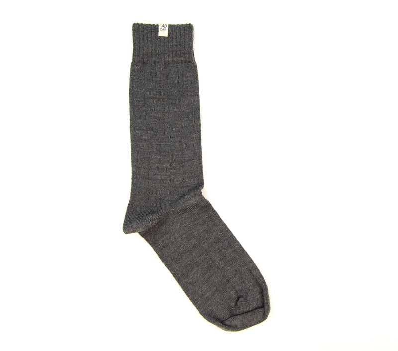 40 Colori Men's Socks 115403-S Cotton & Cashmere Charcoal