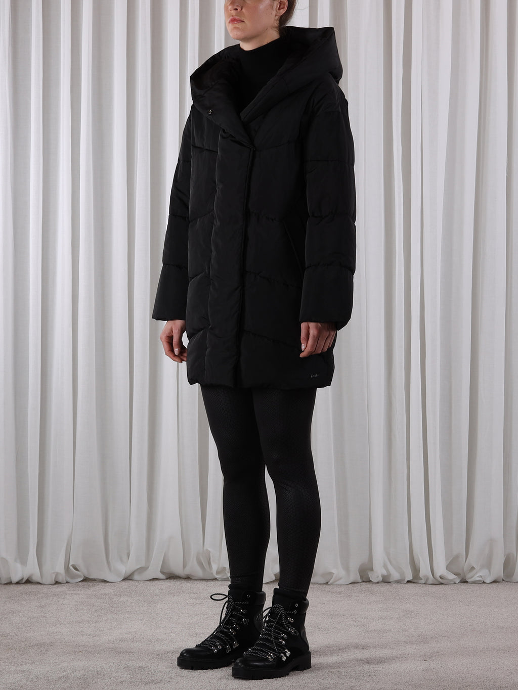 Rino & Pelle LAURAL Long Padded Coat Black