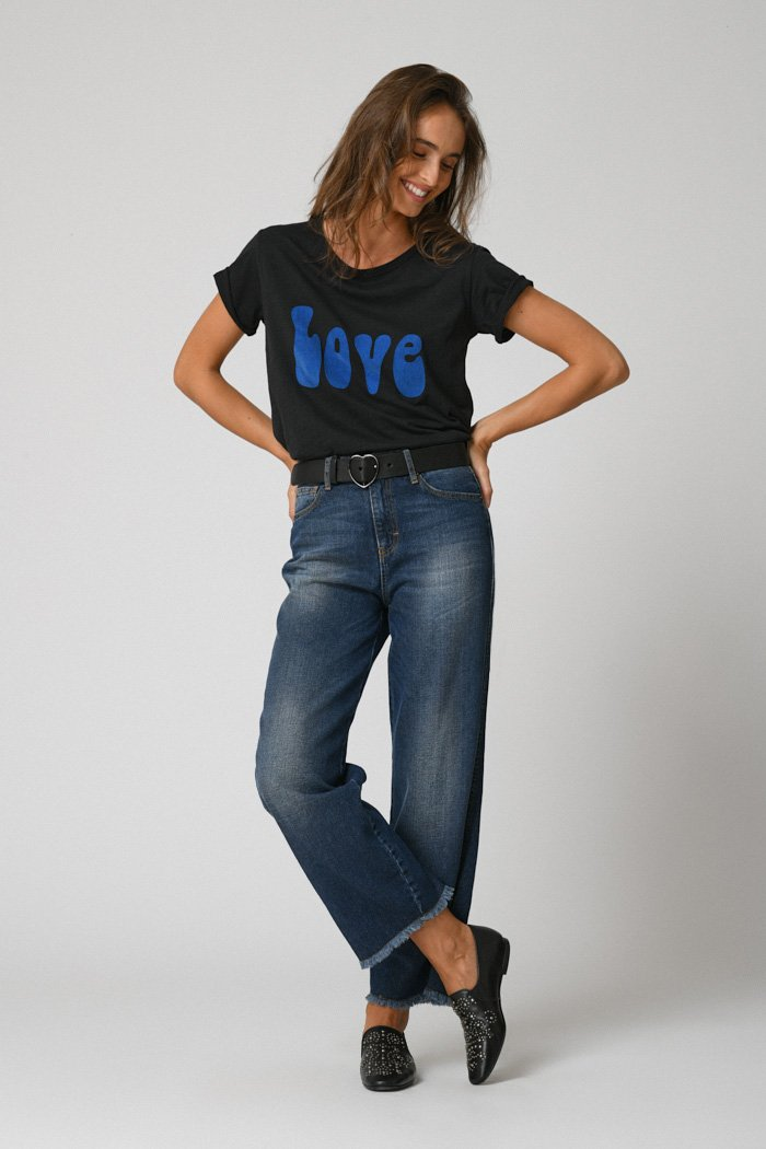 Five Jeans LENA Wide Cropped Dark Blue