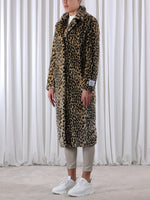 Rino & Pelle POPPY Long Faux Fur Coat Cheetah