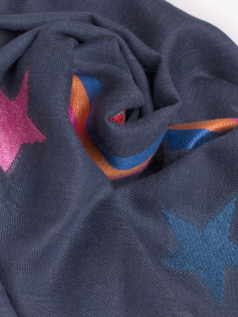 Vilagallo PRAGA Star & Love Scarf Navy