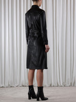 Rino & Pelle Sandon Faux Leather Dress Black