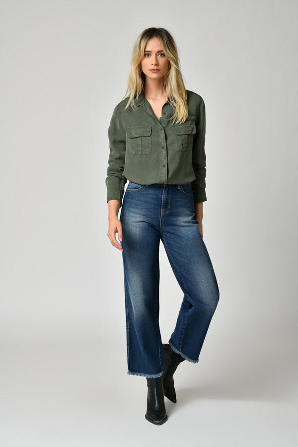 Five Jeans 2 Pocket Tencel Shirt Ivy Green