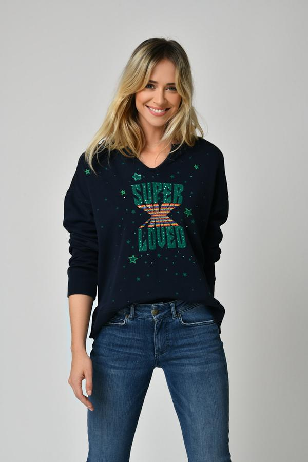 Five Jeans Super Loved Sweater Navy