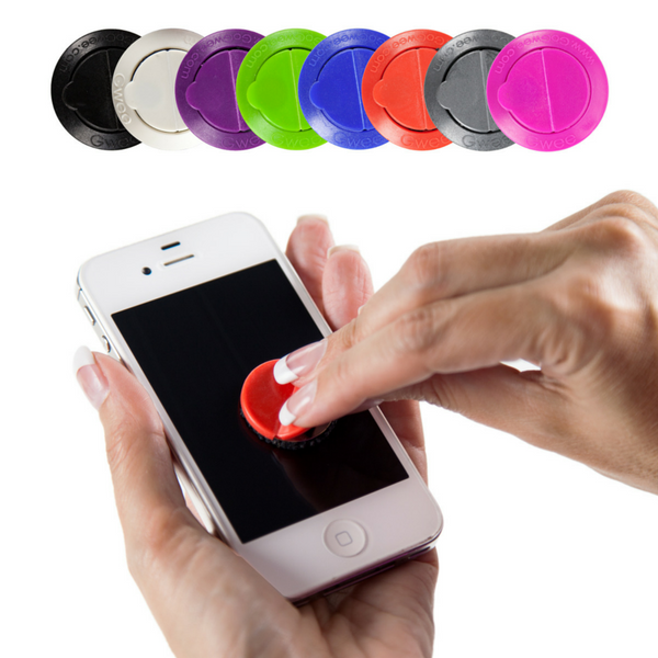 Clean your cell phone with a gwee button