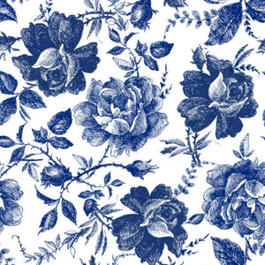 Belle's and Whistles Decoupage papers 'Blue Sketched flowers'