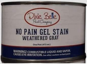 Dixie Belle No Pain Gel stain Weathered Gray