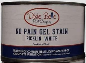 Dixie Belle No Pain Gel stain Pickling White