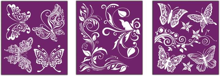 *New* Belle's and Whistles Silk screen stencil Butterflies *Expected dispatch 7th May *