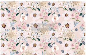 Redesign Decoupage Tissue paper Blush Floral Pre-order Delivery early April