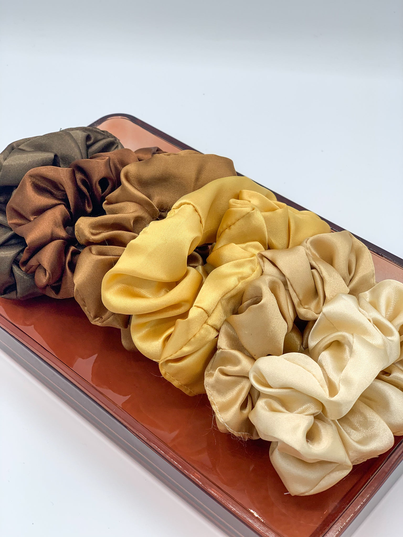 Satin Scrunchie - Gold