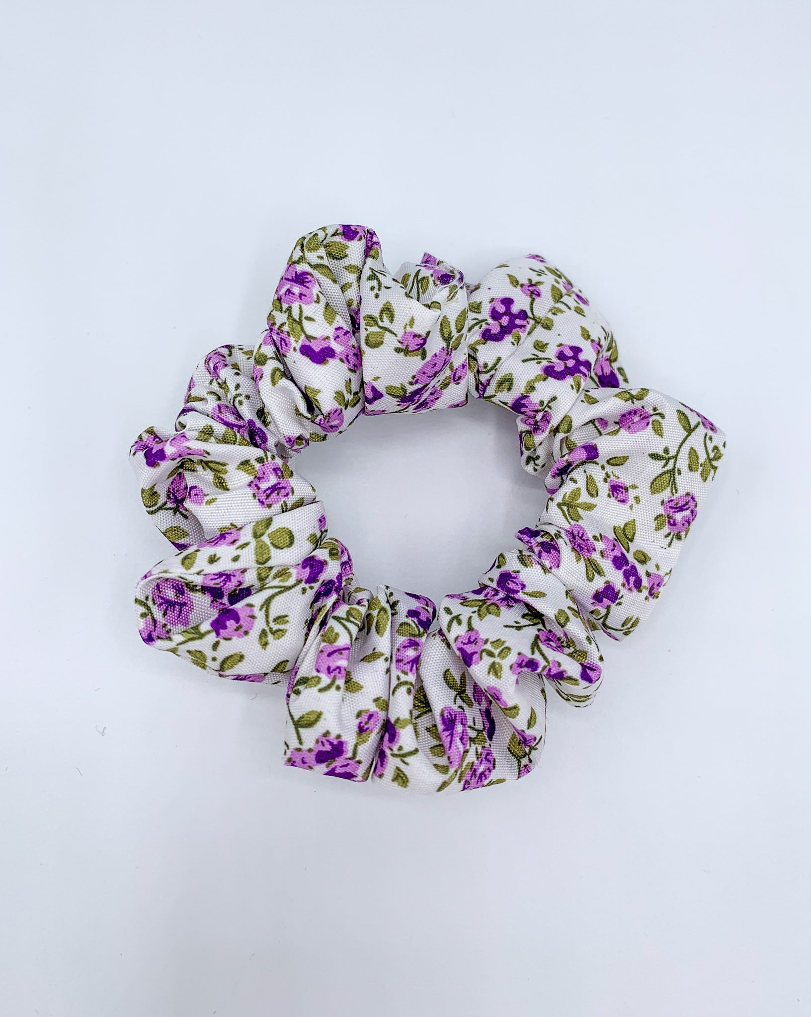 Ditsy Floral Scrunchie - Lilac