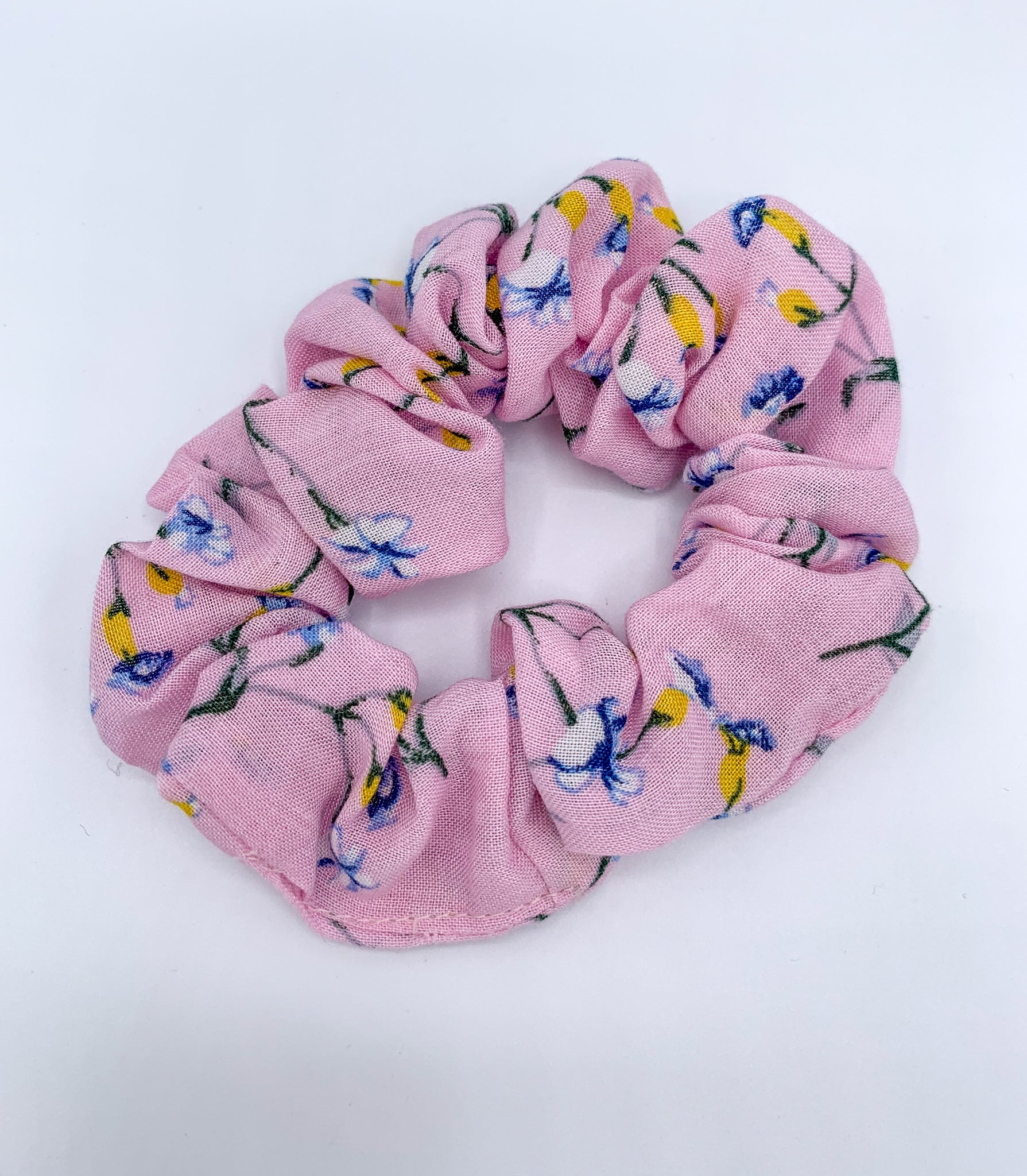 Ditsy Floral Scrunchie - Pink