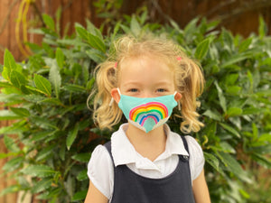 Rainbow face masks for children