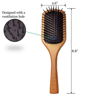 Signature Wooden Paddle Brush