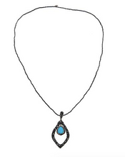 Load image into Gallery viewer, Open Pear Drop Necklace